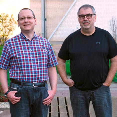 Prof. Dr. Silvio Rizzoli und Prof. Dr. Nils Brose - Foto: Ben Cooper